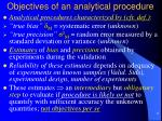 objectives of an analytical procedure1