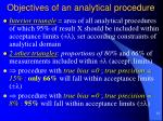 objectives of an analytical procedure5