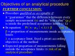 objectives of an analytical procedure7