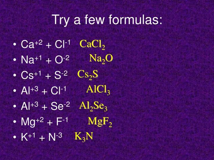 Try a few formulas: