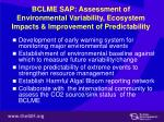 bclme sap assessment of environmental variability ecosystem impacts improvement of predictability