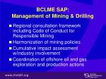 bclme sap management of mining drilling