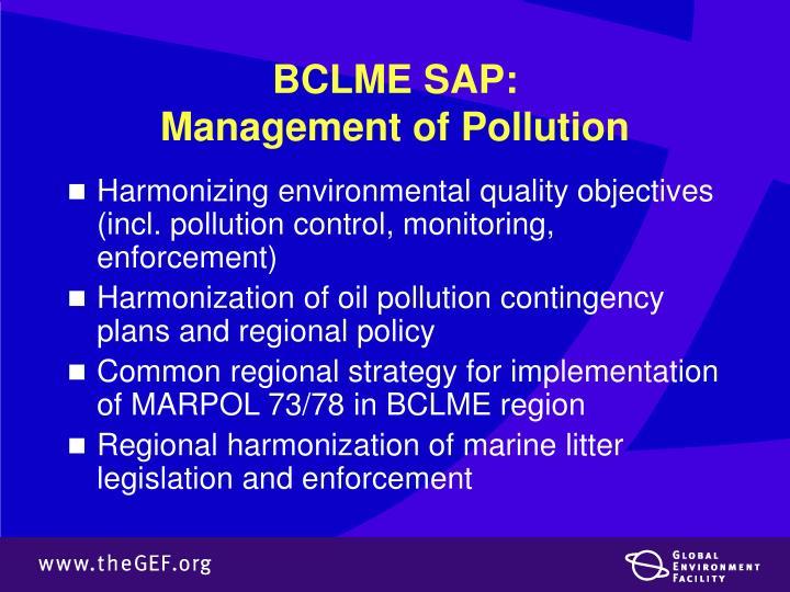 BCLME SAP: