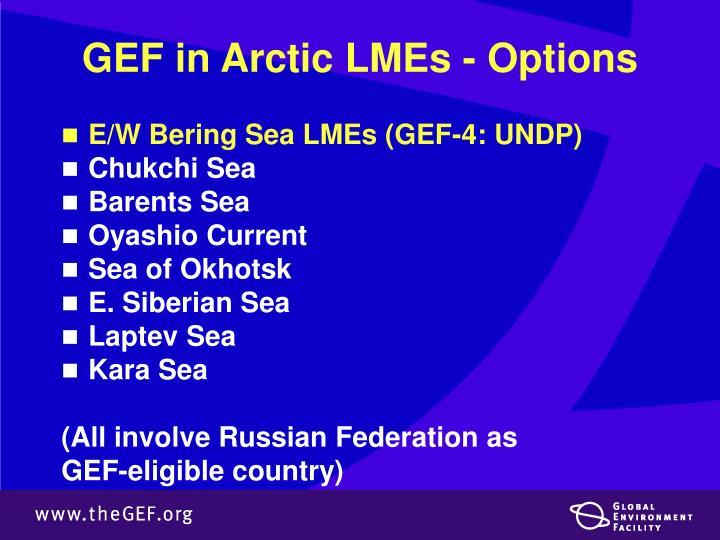 GEF in Arctic LMEs - Options