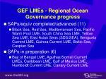 gef lmes regional ocean governance progress