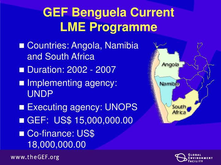 GEF Benguela Current