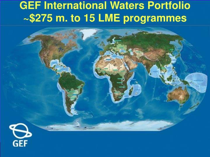 GEF International Waters Portfolio
