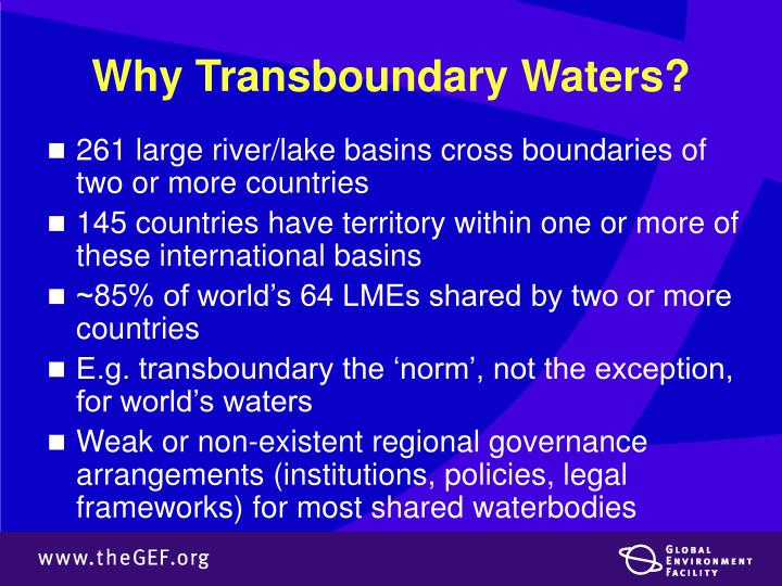Why Transboundary Waters?