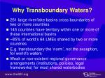 why transboundary waters