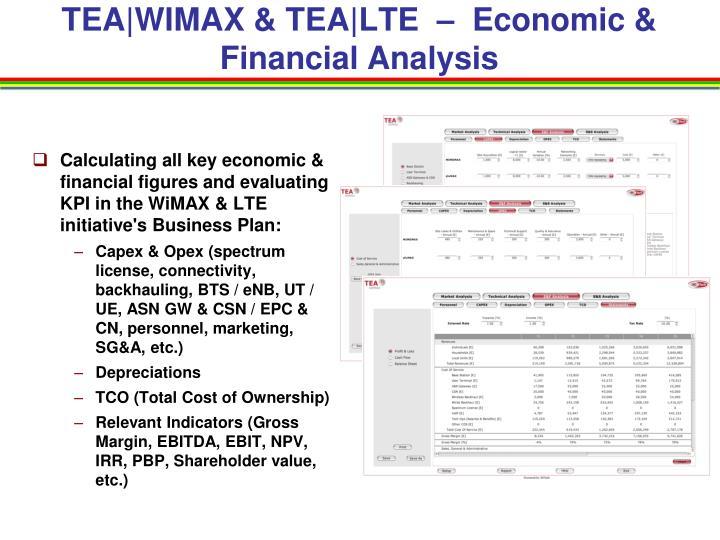 TEA WIMAX & TEA LTE  –  Economic & Financial Analysis