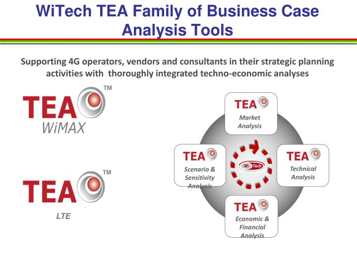 WiTech TEA Family of Business Case Analysis Tools