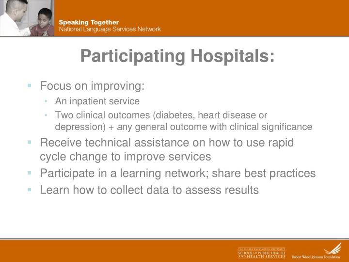 Participating Hospitals: