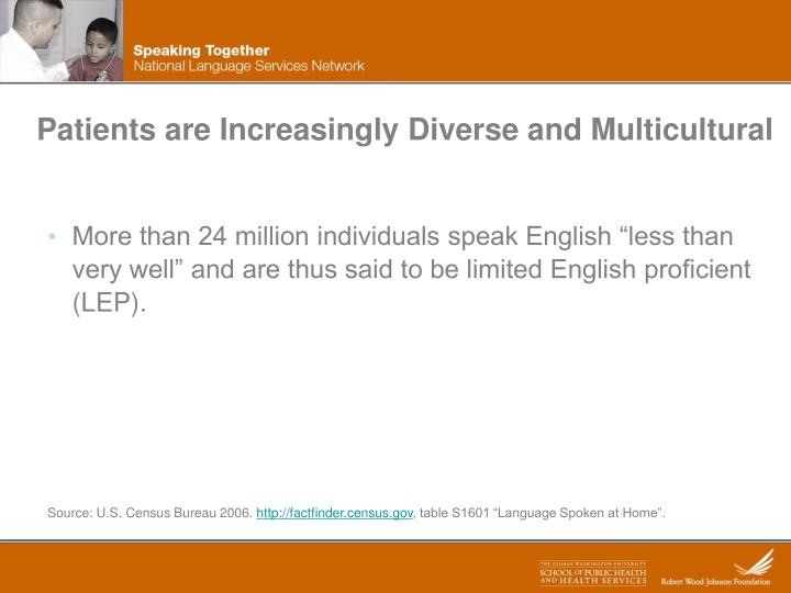 Patients are Increasingly Diverse and Multicultural