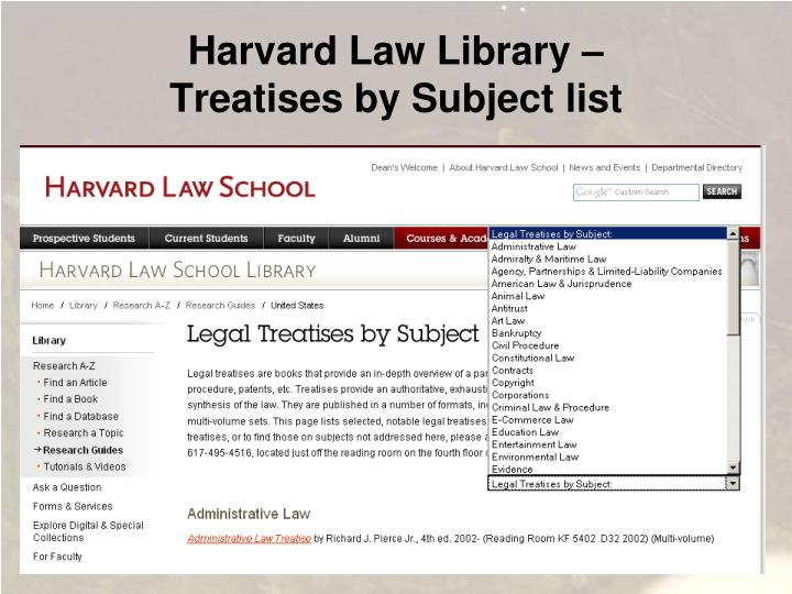 Harvard Law Library –
