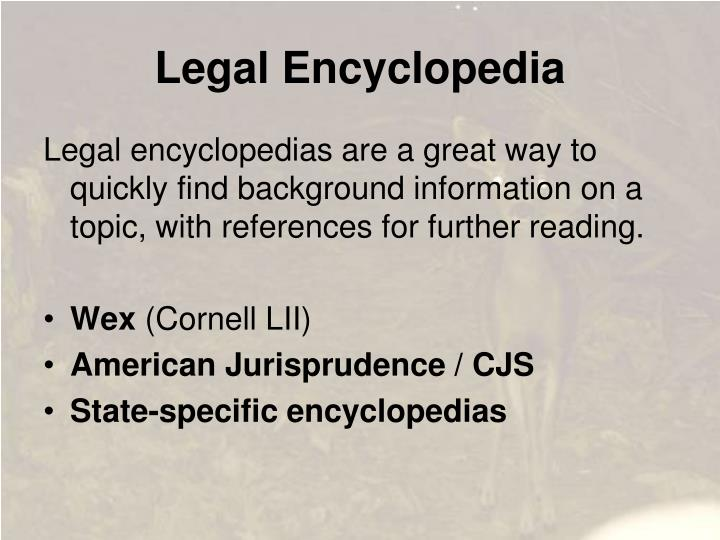 Legal Encyclopedia