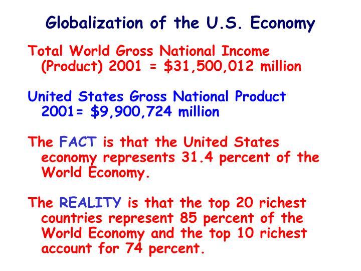 Globalization of the U.S. Economy