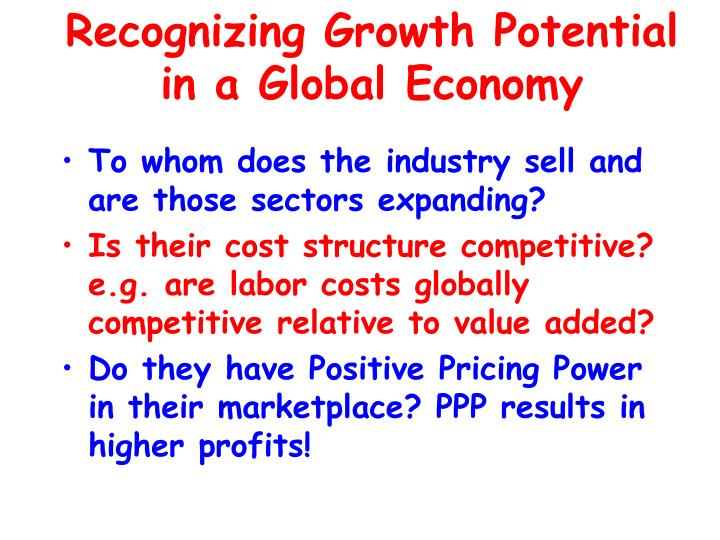 Recognizing Growth Potential