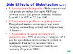 side effects of globalization part i