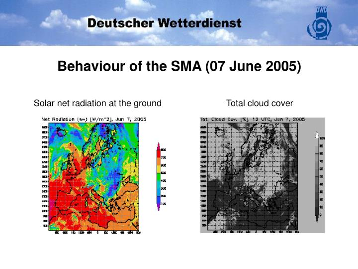 Behaviour of the SMA (07 June 2005)