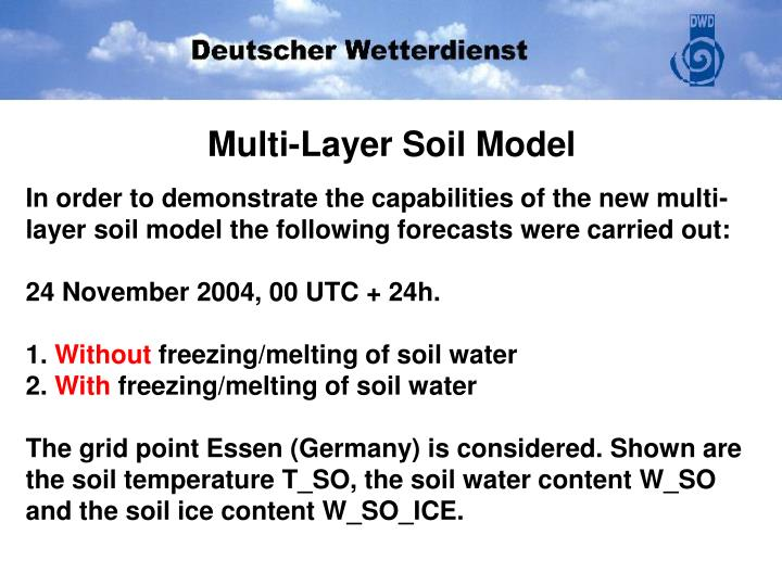 Multi-Layer Soil Model