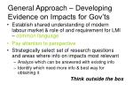 general approach developing evidence on impacts for gov ts