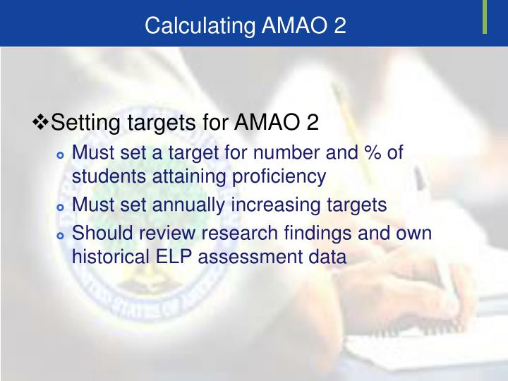 Calculating AMAO 2