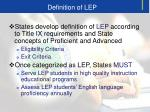 definition of lep