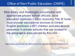 office of non public education onpe