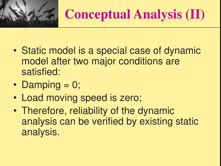 Conceptual Analysis (II)