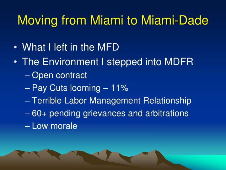 Moving from Miami to Miami-Dade