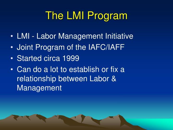 The LMI Program