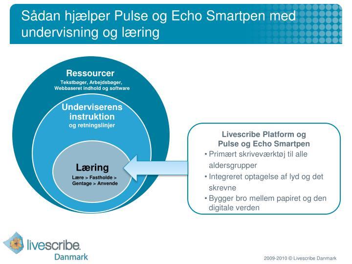 Sådan hjælper Pulse og Echo Smartpen med