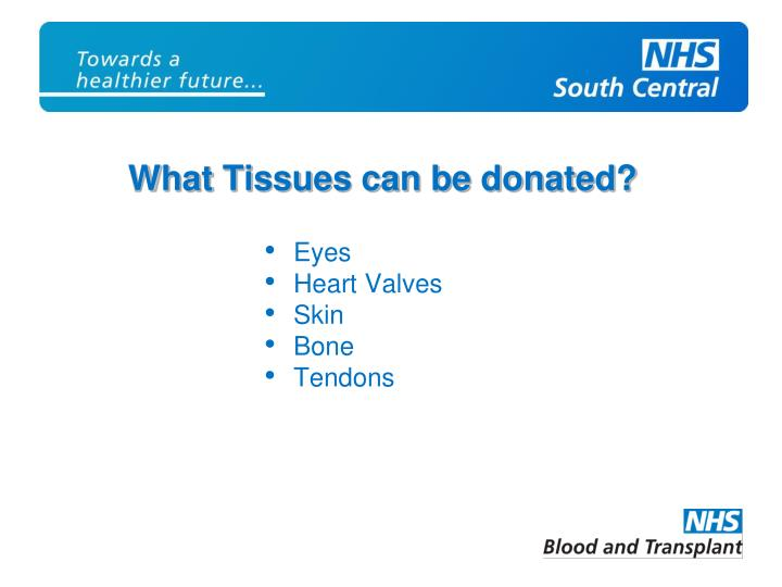 What Tissues can be donated?