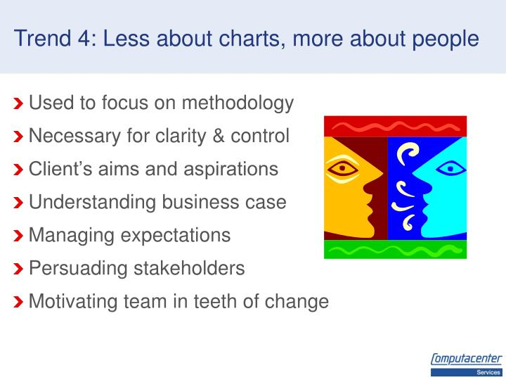 Trend 4: Less about charts, more about people