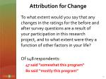 attribution for change1