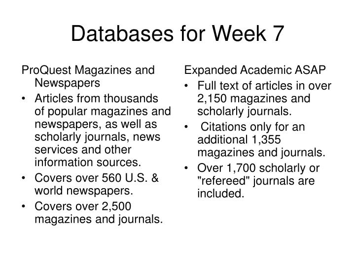 ProQuest Magazines and Newspapers