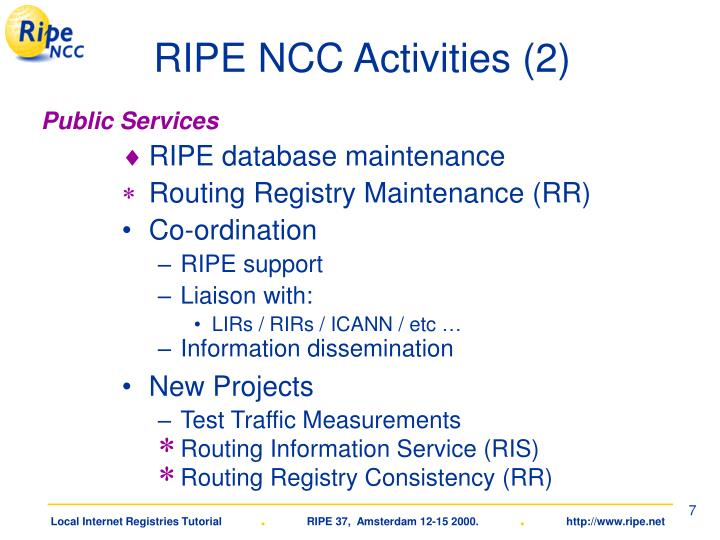 RIPE NCC Activities (2)