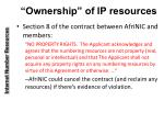 ownership of ip resources