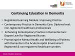 continuing education in dementia