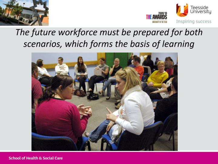 The future workforce must be prepared for both scenarios, which forms the basis of learning