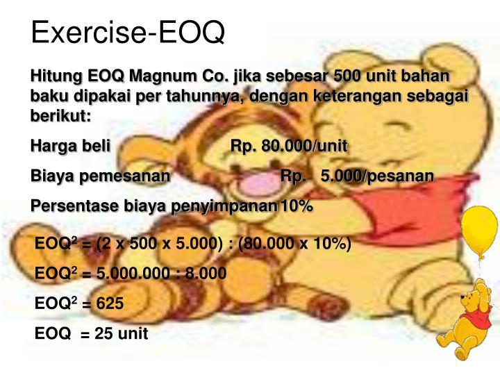 Exercise-EOQ