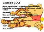 exercise eoq