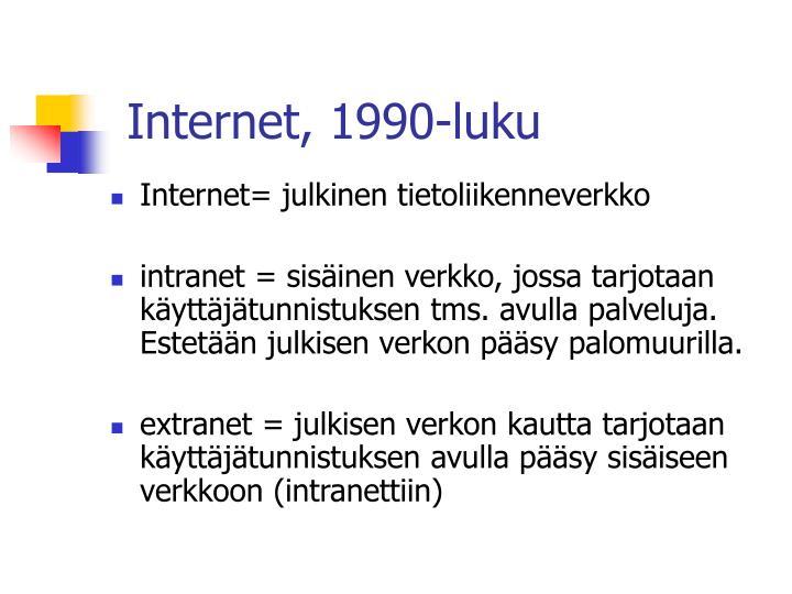 Internet, 1990-luku