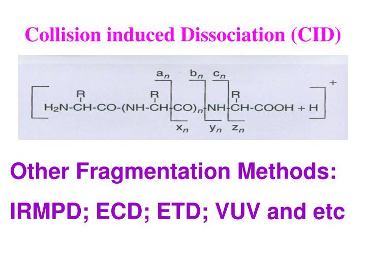 Collision induced Dissociation (CID)