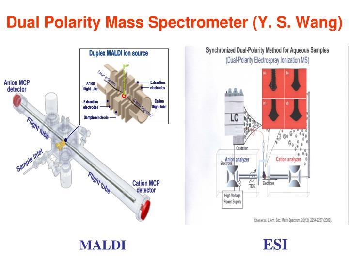 Dual Polarity Mass Spectrometer (Y. S. Wang)