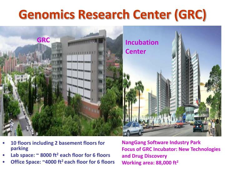 Genomics Research Center (GRC)