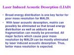 laser induced acoustic desorption liad