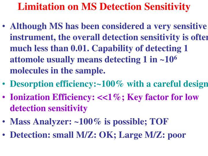 Limitation on MS Detection Sensitivity