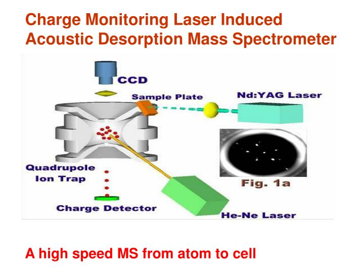 Charge Monitoring Laser Induced Acoustic Desorption Mass Spectrometer