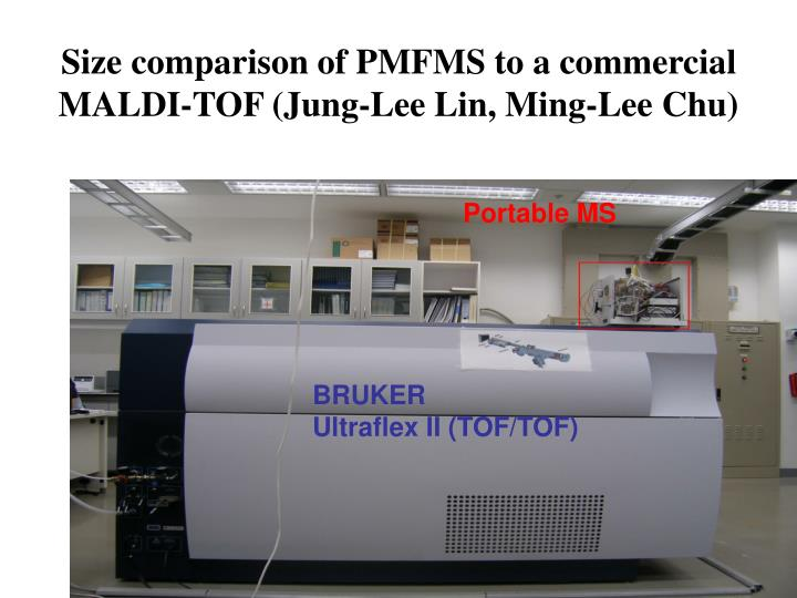 Size comparison of PMFMS to a commercial MALDI-TOF (Jung-Lee Lin, Ming-Lee Chu)